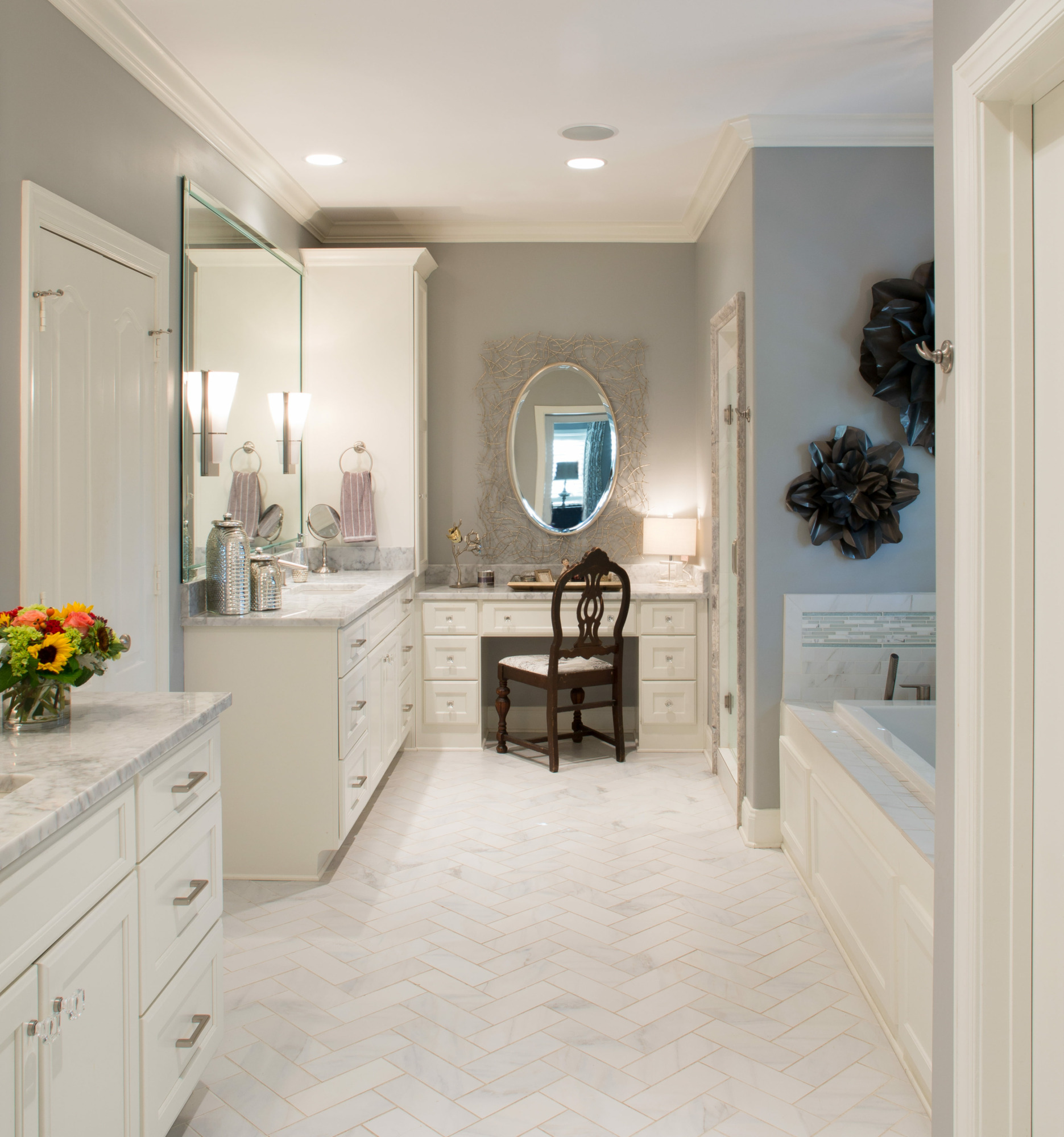English eclectic rka construction custom cabinetry high end appliances and beautiful tile marble and hardwoods combine to make a luxurious retreat for the owners dailygadgetfo Gallery